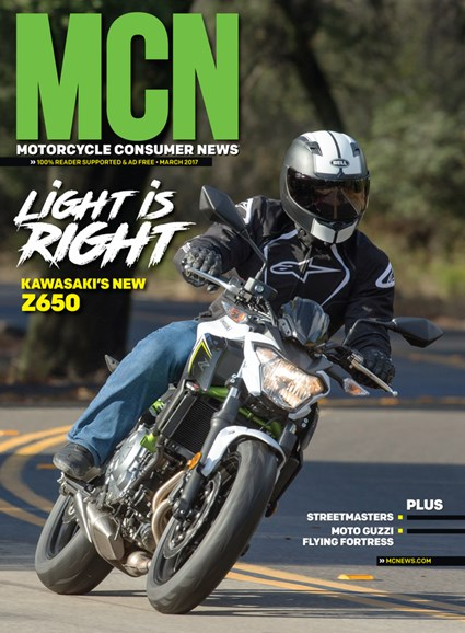Motorcycle Consumer News Cover - 3/1/2017