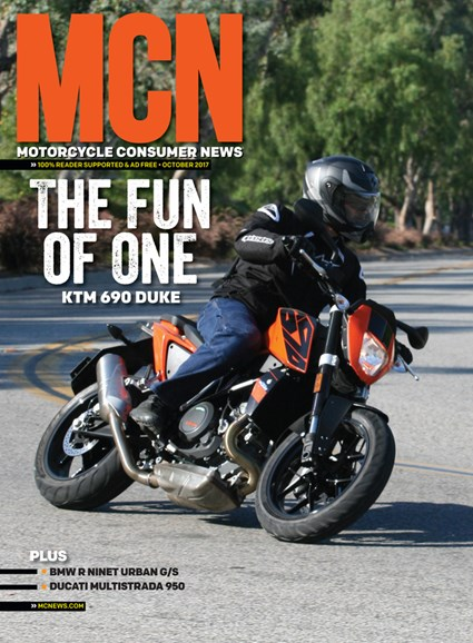 Motorcycle Consumer News Cover - 10/1/2017