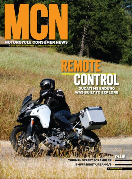 Motorcycle Consumer News Cover - 9/1/2017