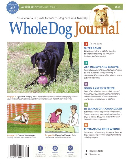 Whole Dog Journal Cover - 8/1/2017