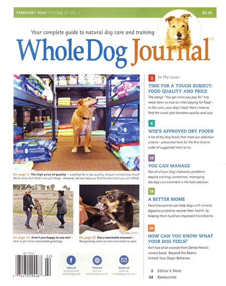 Whole Dog Journal Cover - 2/1/2018
