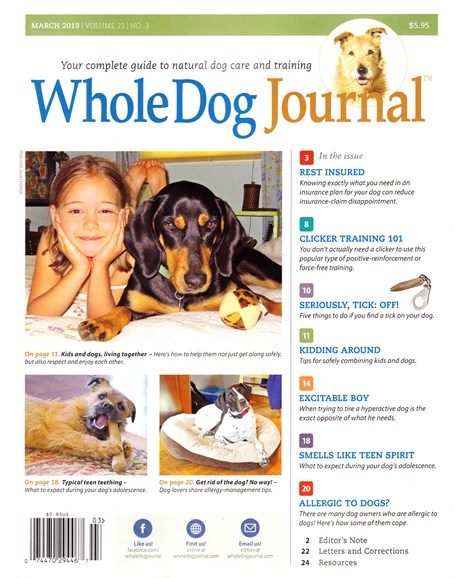 Whole Dog Journal Cover - 3/1/2018