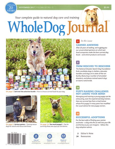 Whole Dog Journal Cover - 11/1/2017