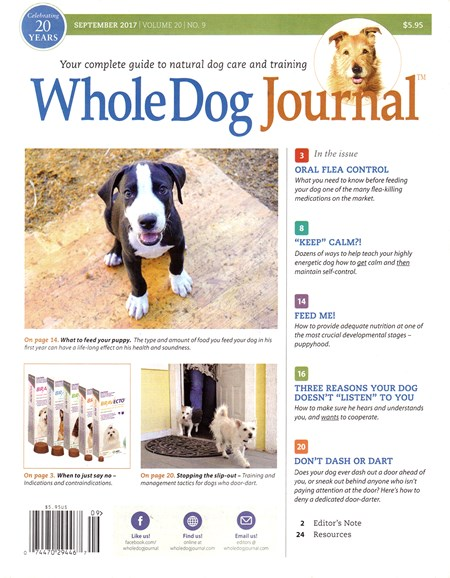Whole Dog Journal Cover - 9/1/2017
