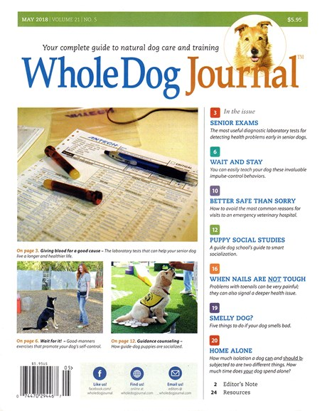 Whole Dog Journal Cover - 5/1/2018