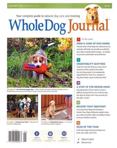Whole Dog Journal Cover - 1/1/2018