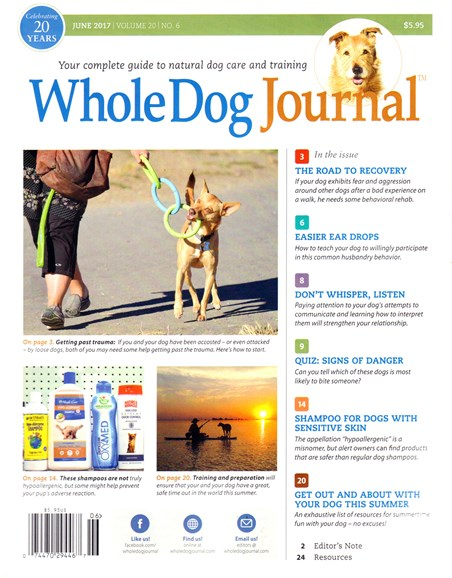 Whole Dog Journal Cover - 6/1/2017