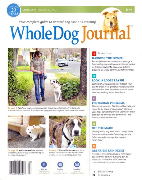 Whole Dog Journal Cover - 4/1/2017