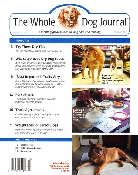 Whole Dog Journal Cover - 2/1/2017