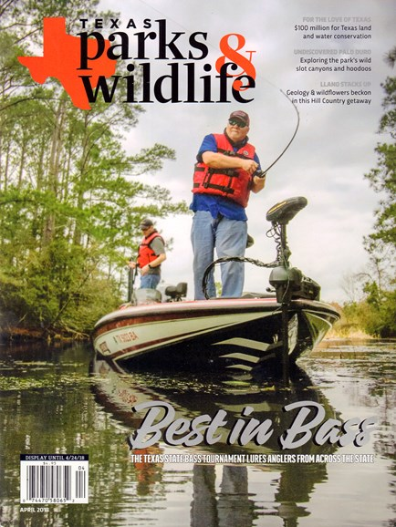 Texas Parks & Wildlife Cover - 4/1/2018