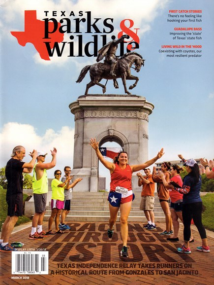 Texas Parks & Wildlife Cover - 3/1/2018