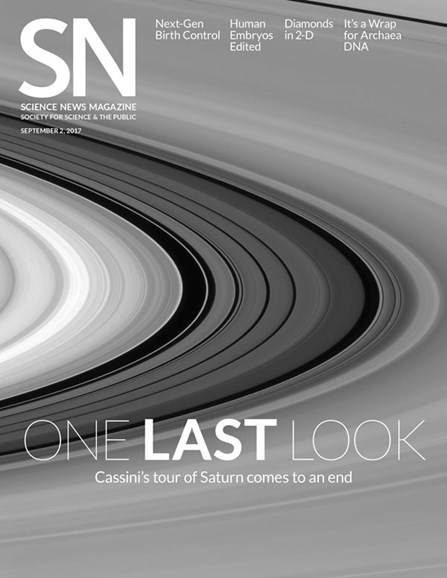 Science News Cover - 9/2/2017