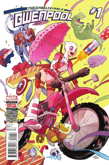 The Unbelievable Gwenpool Cover - 6/1/2016