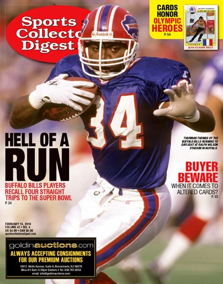 Sports Collectors Digest Cover - 2/16/2018