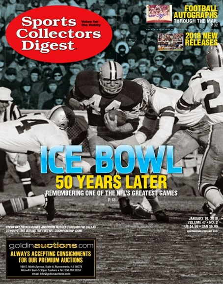 Sports Collectors Digest Cover - 1/19/2018