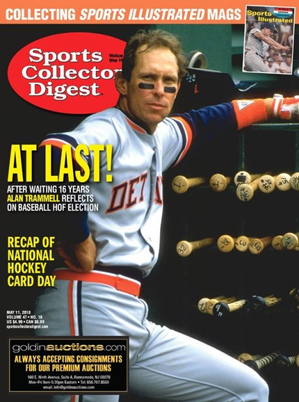 Sports Collectors Digest Cover - 5/11/2018