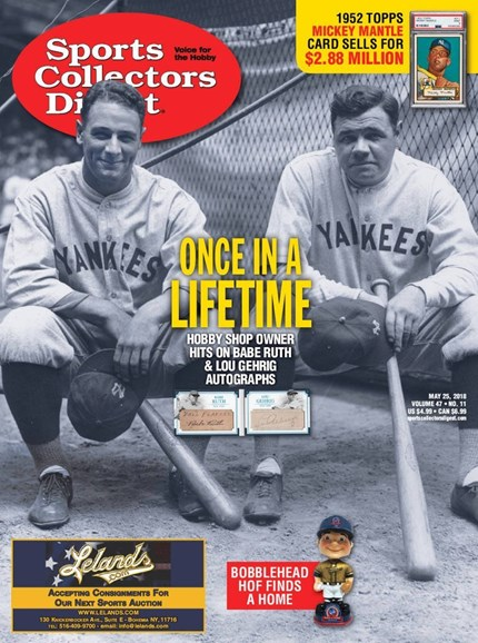 Sports Collectors Digest Cover - 5/25/2018