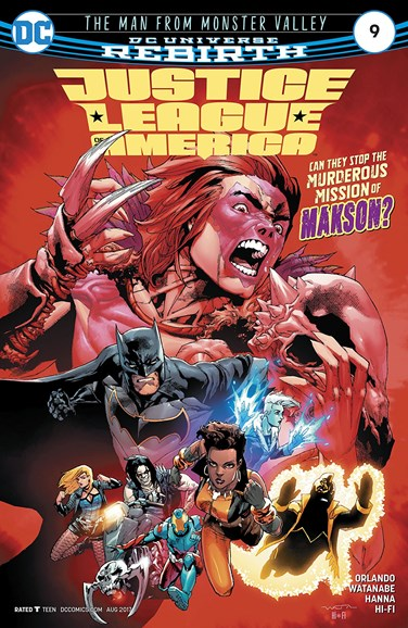 Justice League of America Cover - 8/15/2017