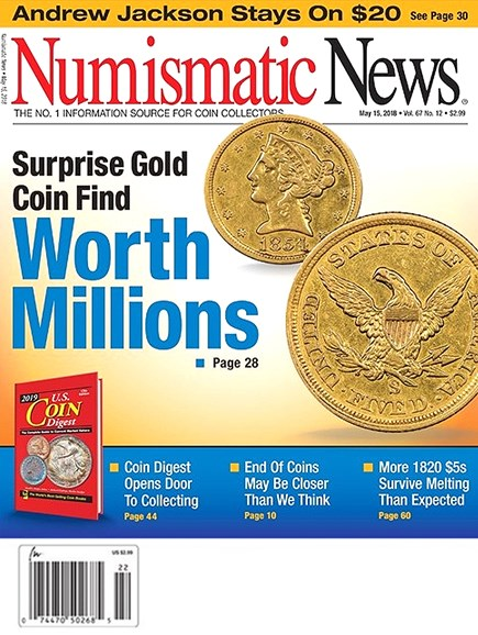 Numismatic News Cover - 5/15/2018