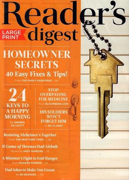 Reader's Digest - Large Print Edition Cover - 6/1/2018
