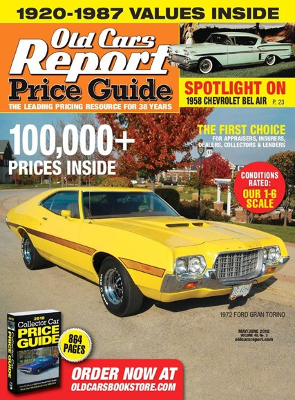 Old Cars Report Price Guide Cover - 5/1/2018