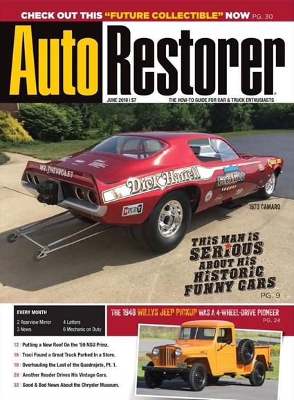 Auto Restorer Cover - 6/1/2018