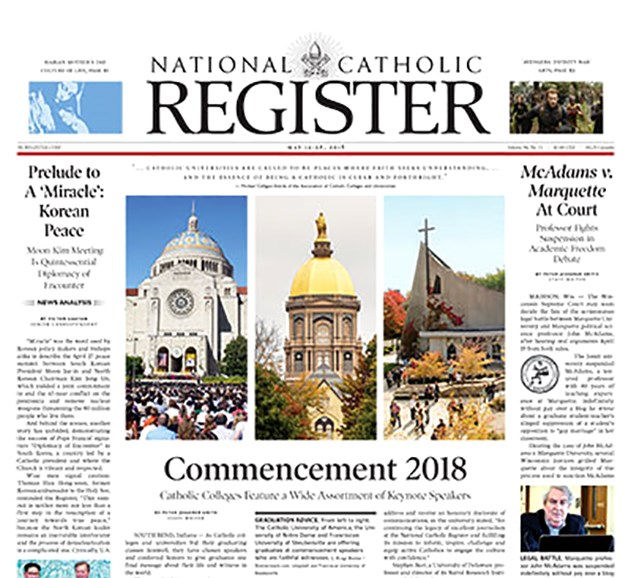 National Catholic Register Cover - 1/1/2023