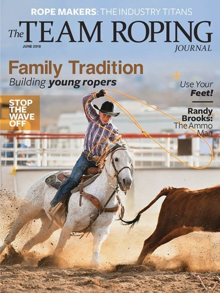 The Team Roping Journal Cover - 6/1/2018