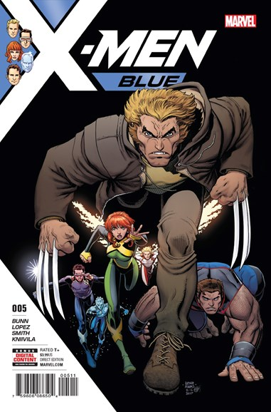 X-Men Blue Cover - 8/1/2017
