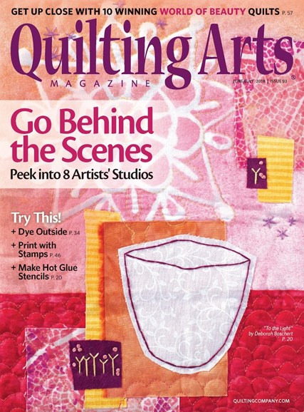 Quilting Arts Cover - 6/1/2018