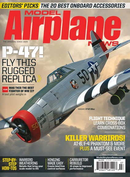 Model Airplane News Cover - 7/1/2018