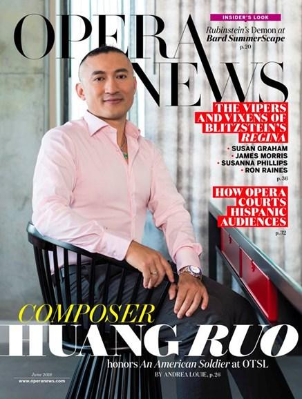 Opera News Cover - 6/1/2018