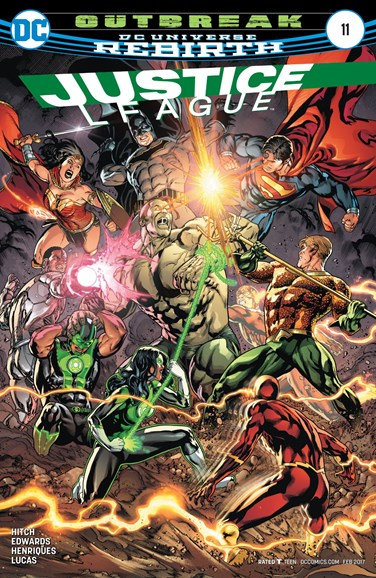 Justice League Cover - 2/15/2017