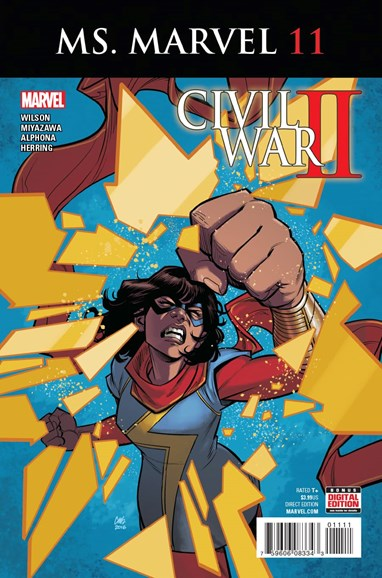 Magnificent Ms. Marvel Cover - 11/1/2016