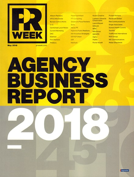 PRWeek Cover - 5/1/2018