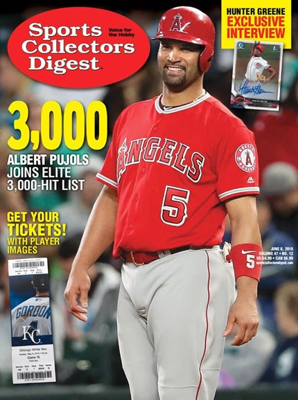 Sports Collectors Digest Cover - 6/8/2018