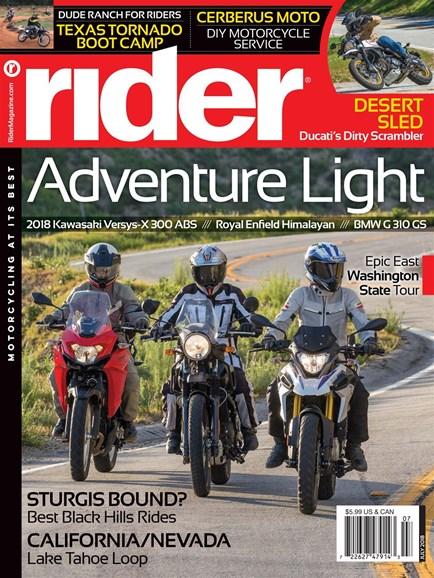 Rider Cover - 7/1/2018