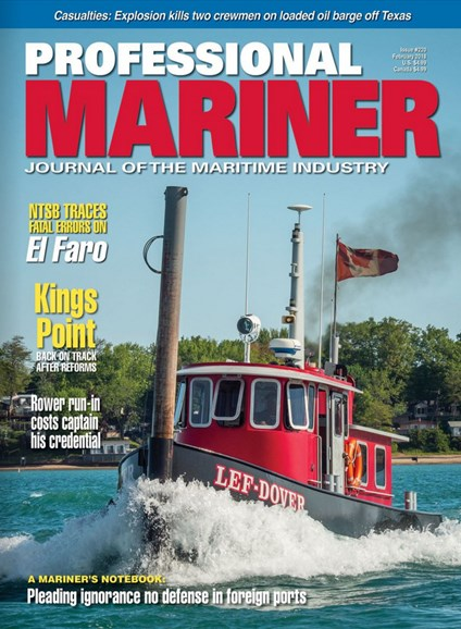 Professional Mariner Cover - 2/1/2018