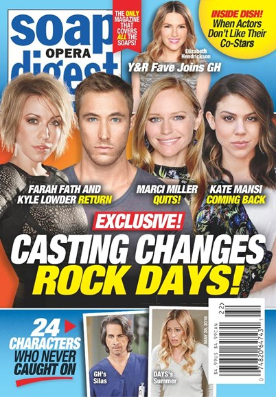 Soap Opera Digest Cover - 5/28/2018