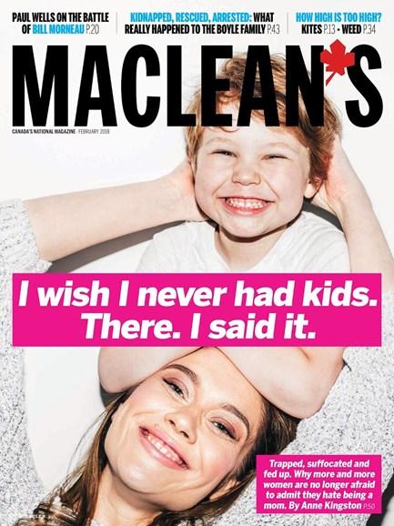 Maclean's Cover - 2/1/2018