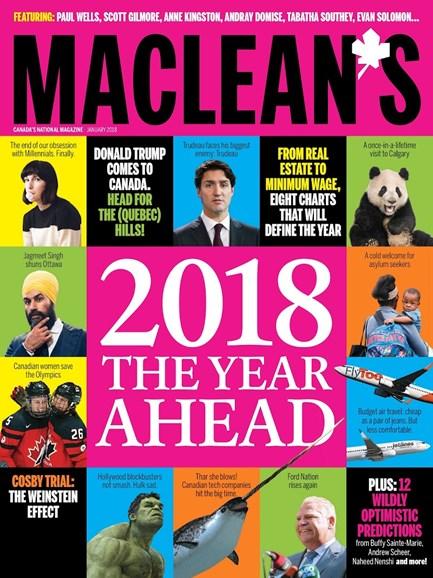 Maclean's Cover - 1/1/2018