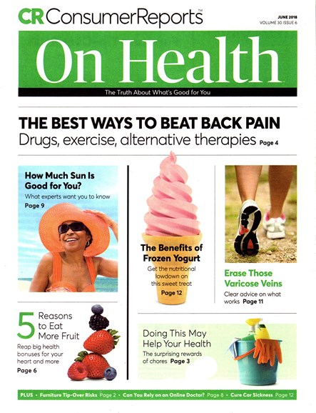 Consumer Reports On Health Cover - 6/1/2018