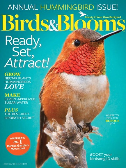 Birds & Blooms Cover - 6/1/2018