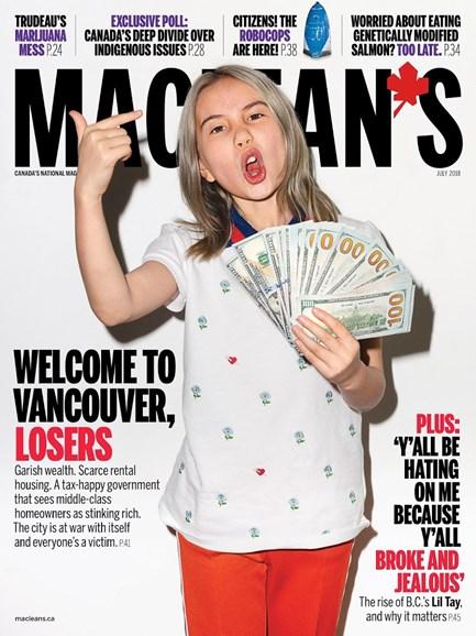 Maclean's Cover - 7/1/2018