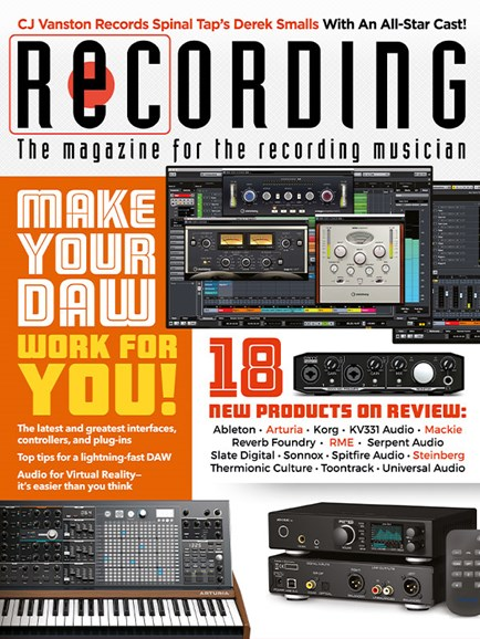 Recording Magazine Cover - 6/1/2018
