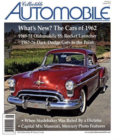 Collectible Automobile Cover - 8/1/2018