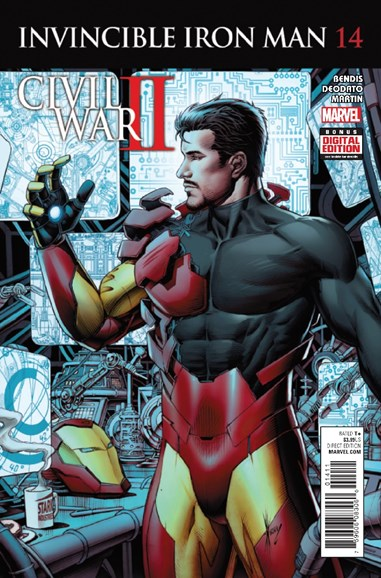 Tony Stark: Iron Man Cover - 12/1/2016