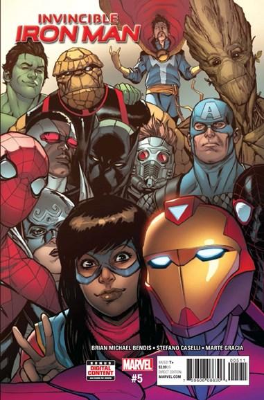 Tony Stark: Iron Man Cover - 5/1/2017