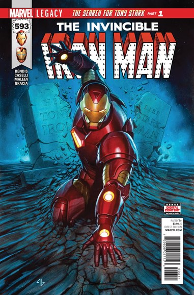 Tony Stark: Iron Man Cover - 12/1/2017