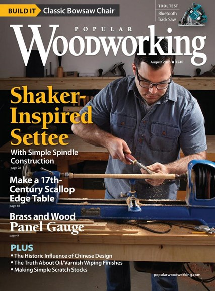 Popular Woodworking Cover - 8/1/2018